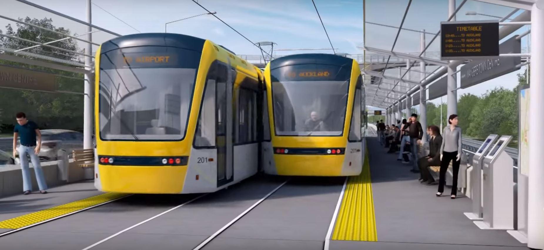采用公交可省25亿 奥克兰CBD到机场轻轨再惹争议